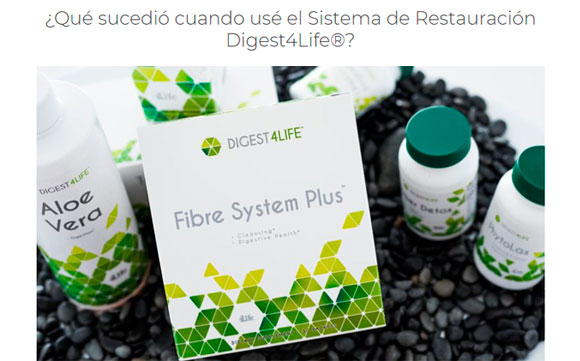 limpieza de colon facil con fiber System Plus