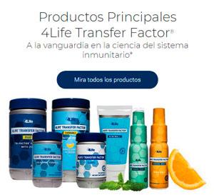 4 productos principales de 4life transfer factor